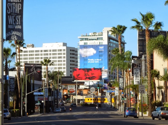 The Americans season 2 billboard Sunset Strip