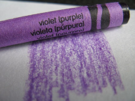 One Of The Numbers Called For Purple So I Took Out My Box Crayons Each Crayon Labeled With Initials