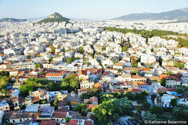 View of Athens from Acropolis One Day in Athens