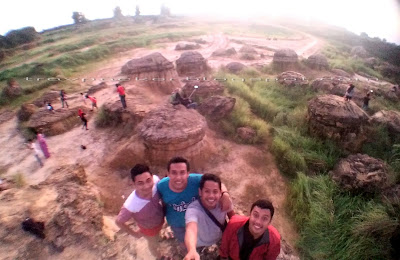 Beauty of mushroom hill in gresik