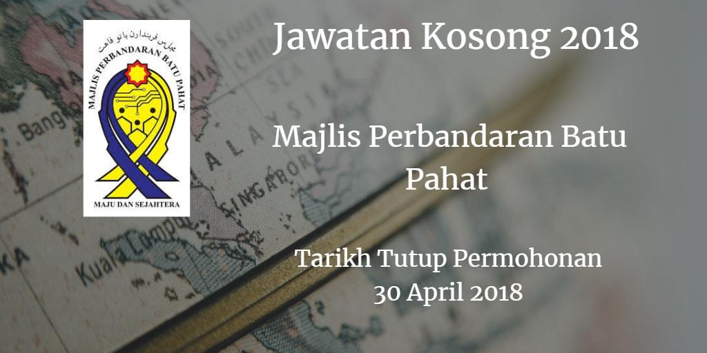 Jawatan Kosong MPBP 30 April 2018