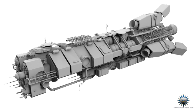 military scifi spaceship spacecraft frigate sifi civilian