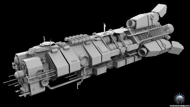 military scifi spaceship spacecraft frigate sifi civilian
