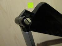 Schraube: CRECO 7W LED Tischlampe 5 Helligkeitsstufen 3 Modi dimmbar 270° drehbar Schreibtischlampe Schwarz [Energieklasse A+]