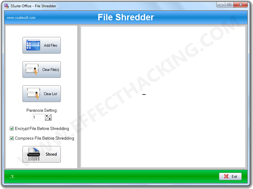 SSuite File Shredder Screenshot