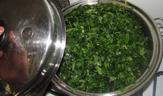 COOKING GREEN VEGETABLES IN THE POT