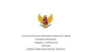 Download PERBAWASLU RI Nomor 31 Tahun 2018