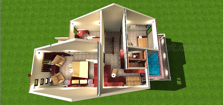 Penataan Rumah Hasil Renovasi Tipe 36 Tanah 90 (Lantai 2 ...