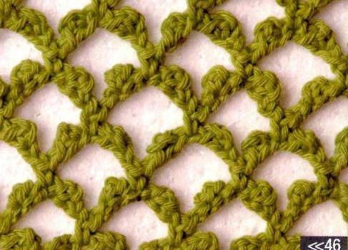 Patrón #1250: Punto Calado a Crochet
