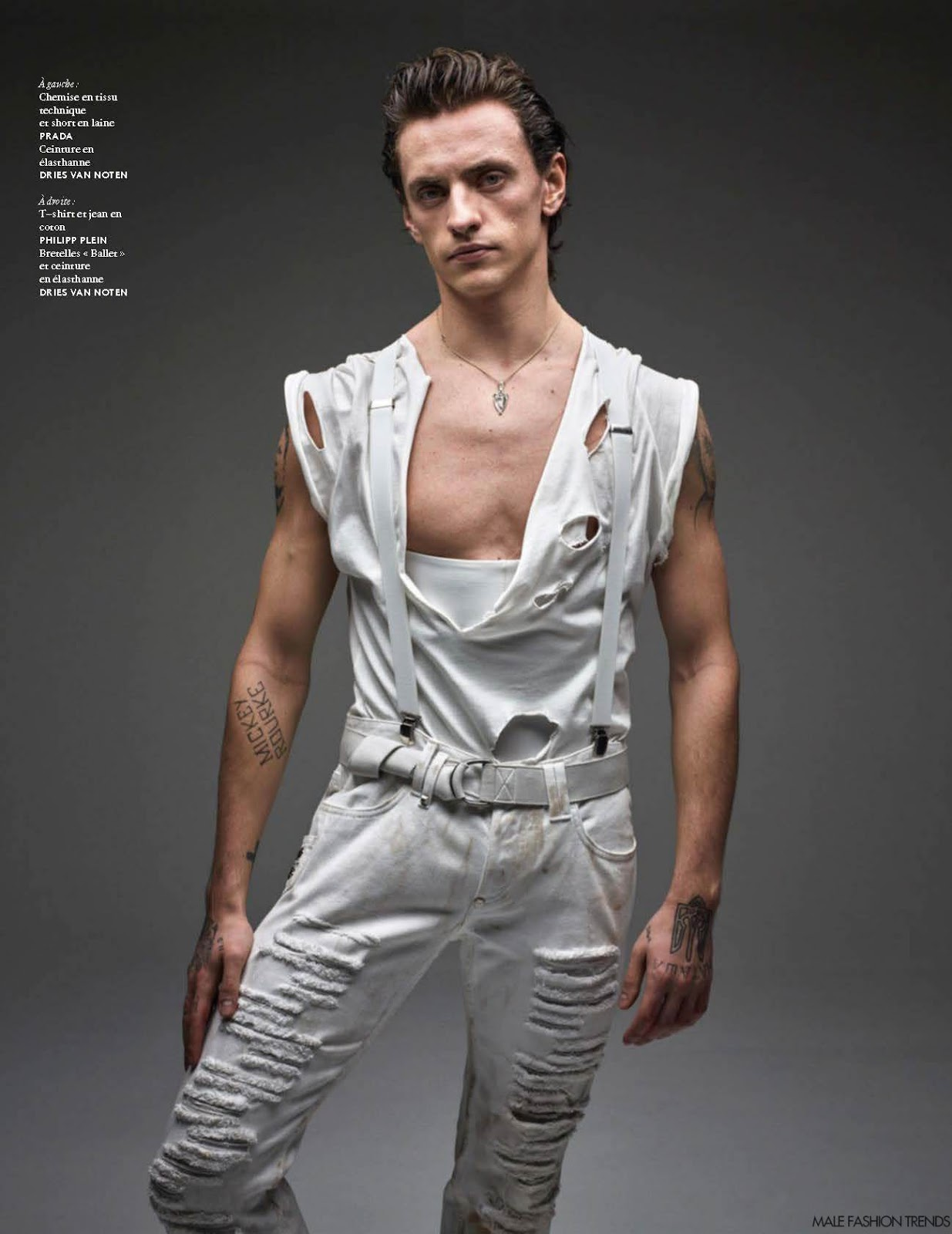 Sergei Polunin Para Vogue Hommes Spring Summer 2016 Por