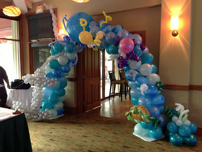 Balloon arch underwater theme balloon decoration