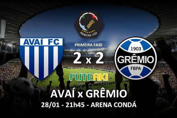 Veja o resumo da partida com os gols e os melhores momentos de Avaí 2x2 Grêmio pela 1ª rodada da Copa Sul-Minas-Rio 2016.