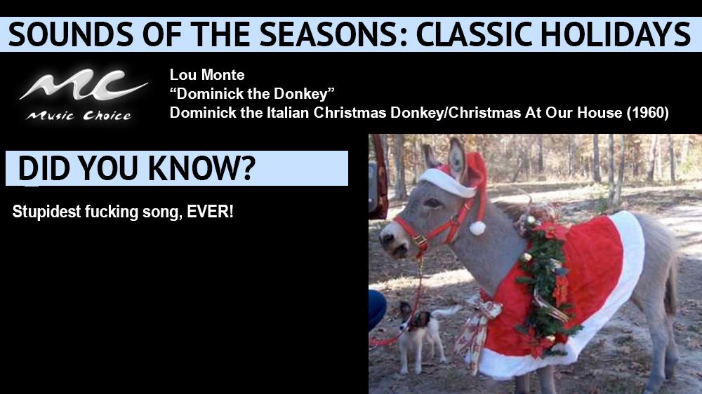dominick the donkey with lyrics - Dominick The Christmas Donkey Lyrics