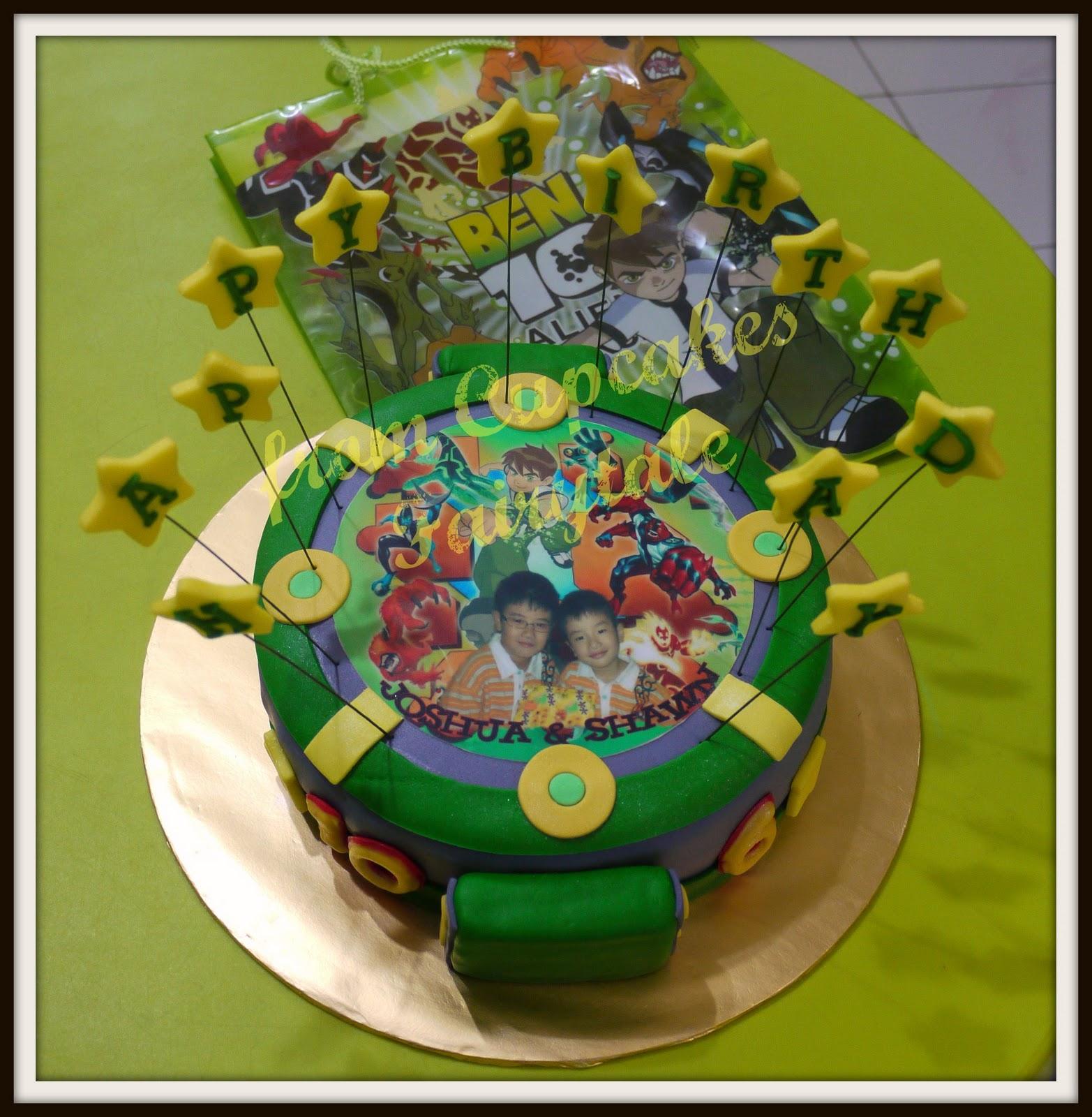 Cupcakes Fairytale: JOSHUA & SHAWN'S BEN 10 BIRTHDAY CAKE
