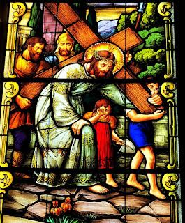 Vitral da Catedral de Santa Maria (RS) - Jesus carregando a Cruz