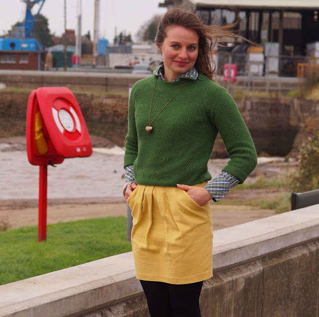 canary yellow and green outfit