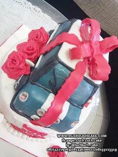 Kue Tart 3D Fondant Mobil Mini Cooper