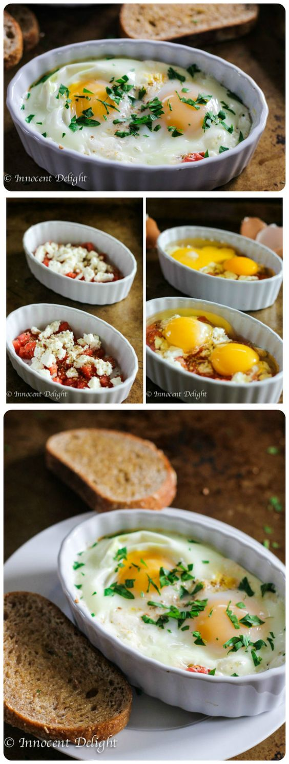 ★★★★☆ 7561 ratings | BAKED EGGS WITH TOMATOES AND FETA CHEESE #HEALTHYFOOD #EASYRECIPES #DINNER #LAUCH #DELICIOUS #EASY #HOLIDAYS #RECIPE #BAKED #EGGS #TOMATOES #FETA #CHEESE