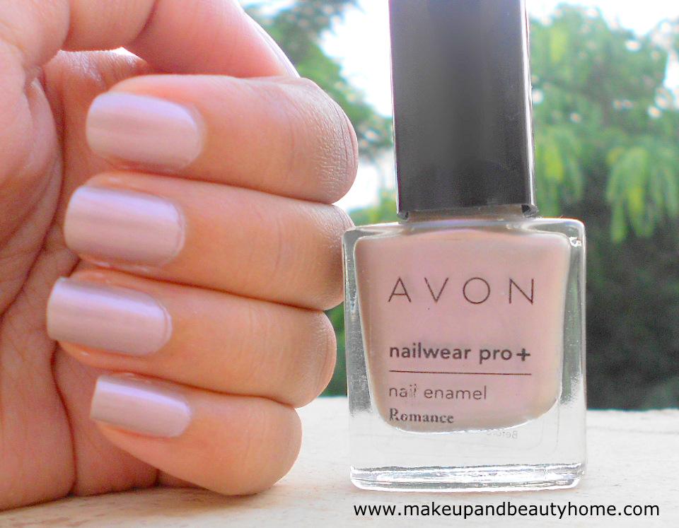 Avon Nailwear Pro Nail Enamel Romance Review Swatches And Notd