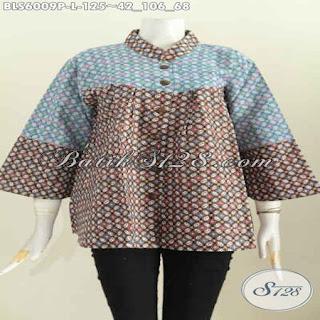 model blus batik kerja modern