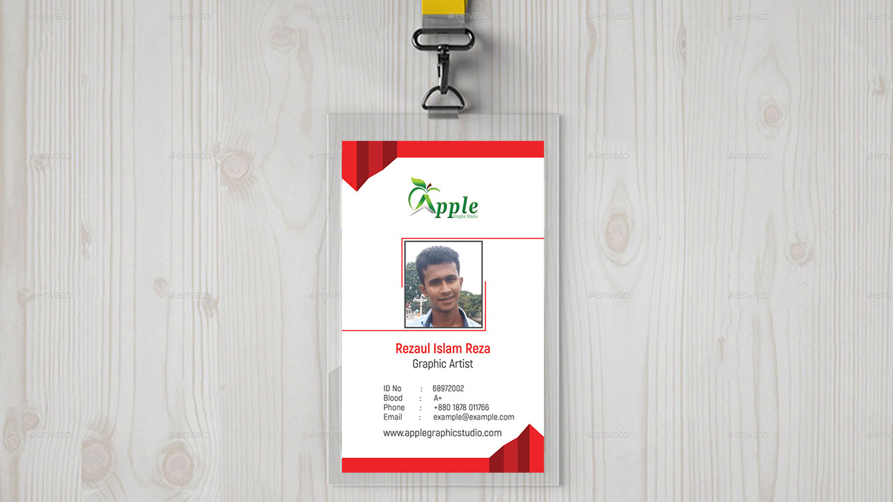 company id card design id badge maker in photoshop apple graphic