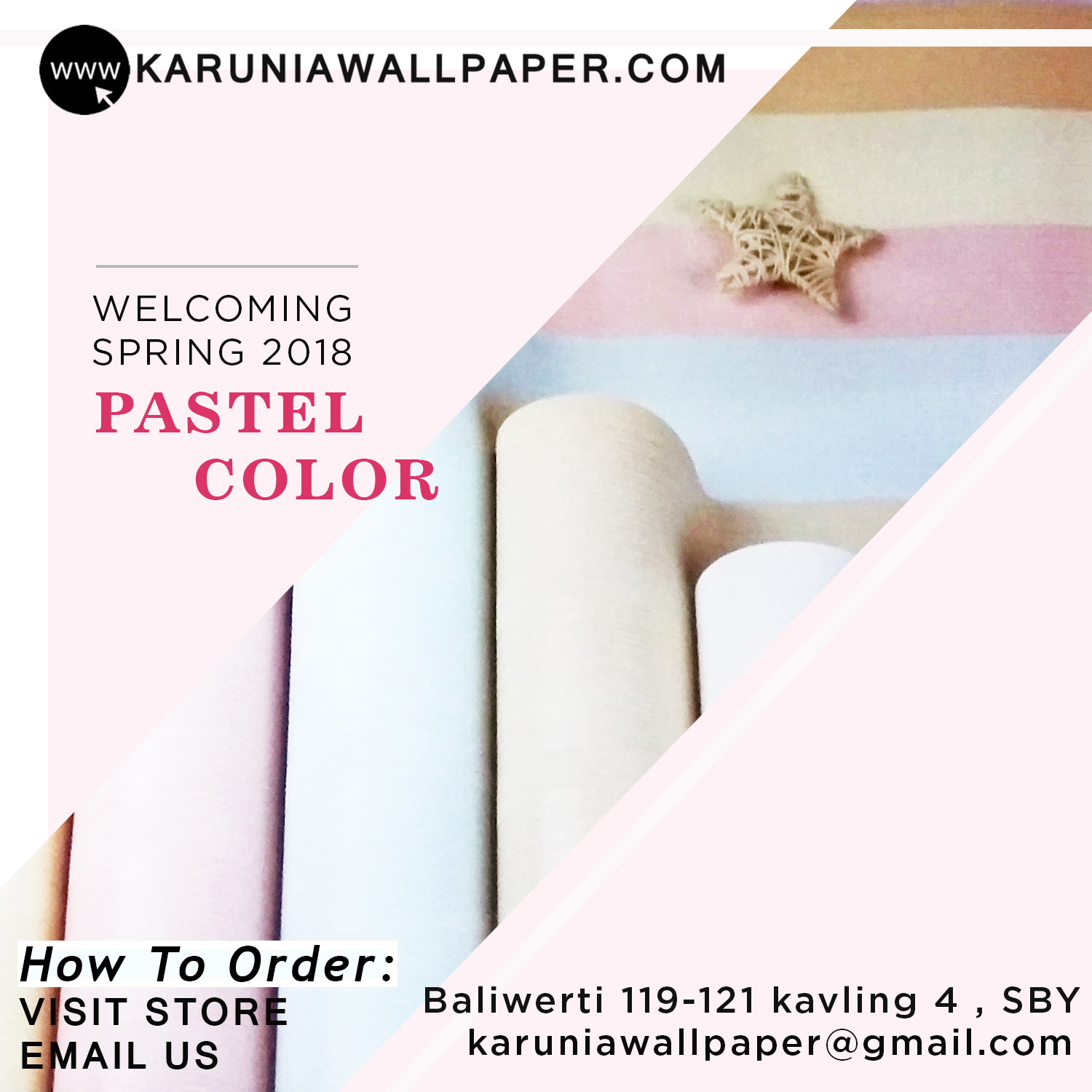 jual wallpaper dinding warna pastel