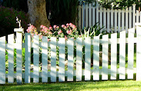 White wooden fence design ideas