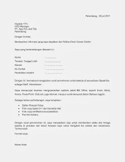 Contoh Surat Lamaran Pekerjaan Yang Baik Dan Benar Kib Komunitas
