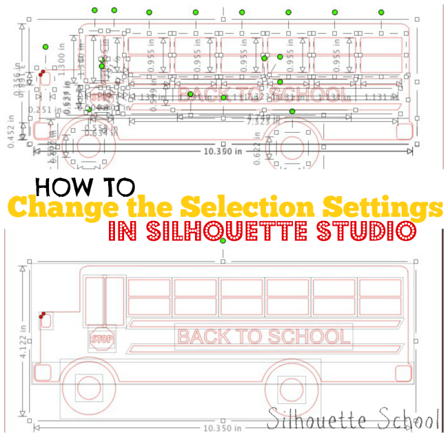 Silhouette Studio, selection box settings