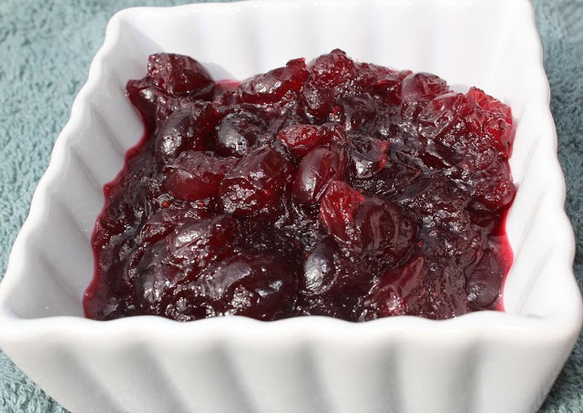 this is how to make fresh cranberry sauce these are cranberries fresh made with Amaretto