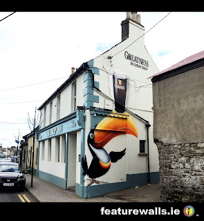 TOUCAN GUINNESS MURAL 2 THE DEW DROP INN RUSH CO DUBLIN BY FEATUREWALLS.IE