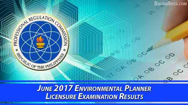 Environmental Planner June 2017 Board Exam