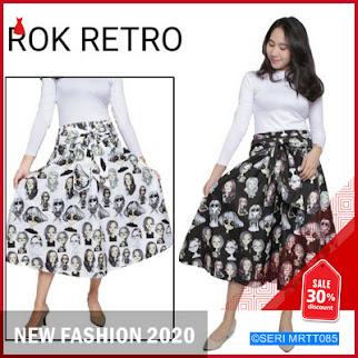 MRTT085R113 ROK WANITA ROK RETRO VINTAGE Keren BMGShop