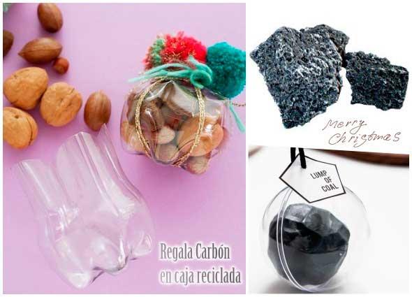 Reyes Magos, carbón, Navidad, fiestas, manualidades, reciclar, dulces