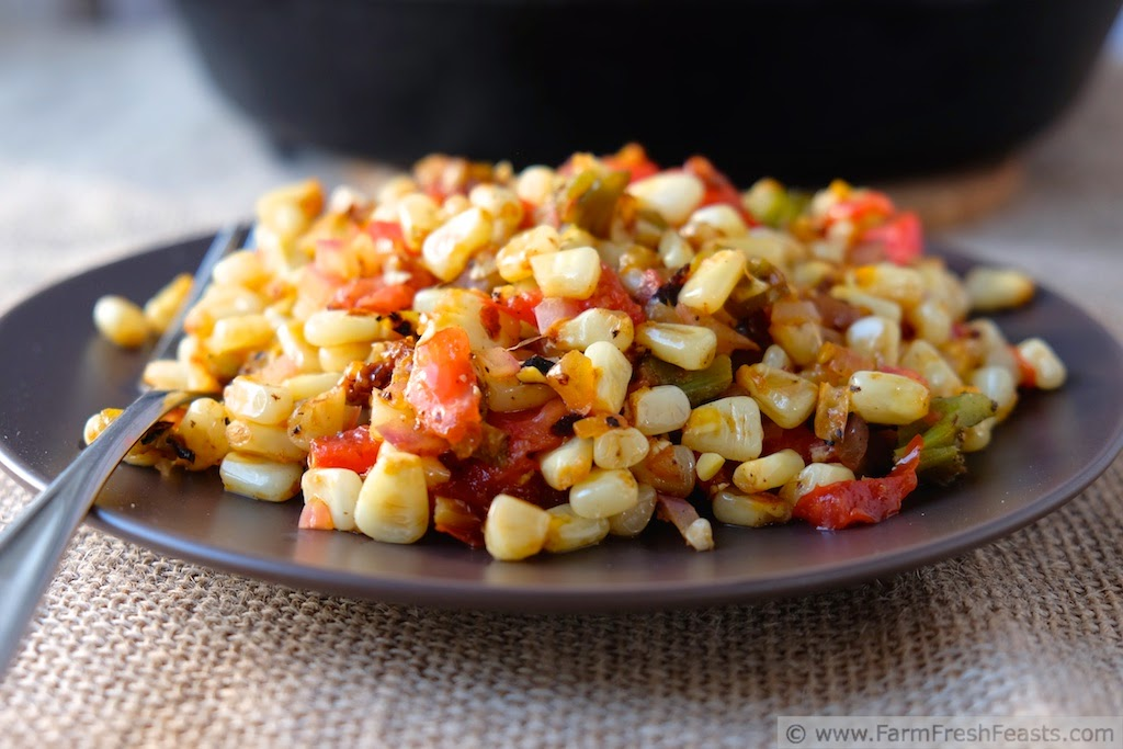 Fresh Corn & Hatch Chile Sauté | Farm Fresh Feasts