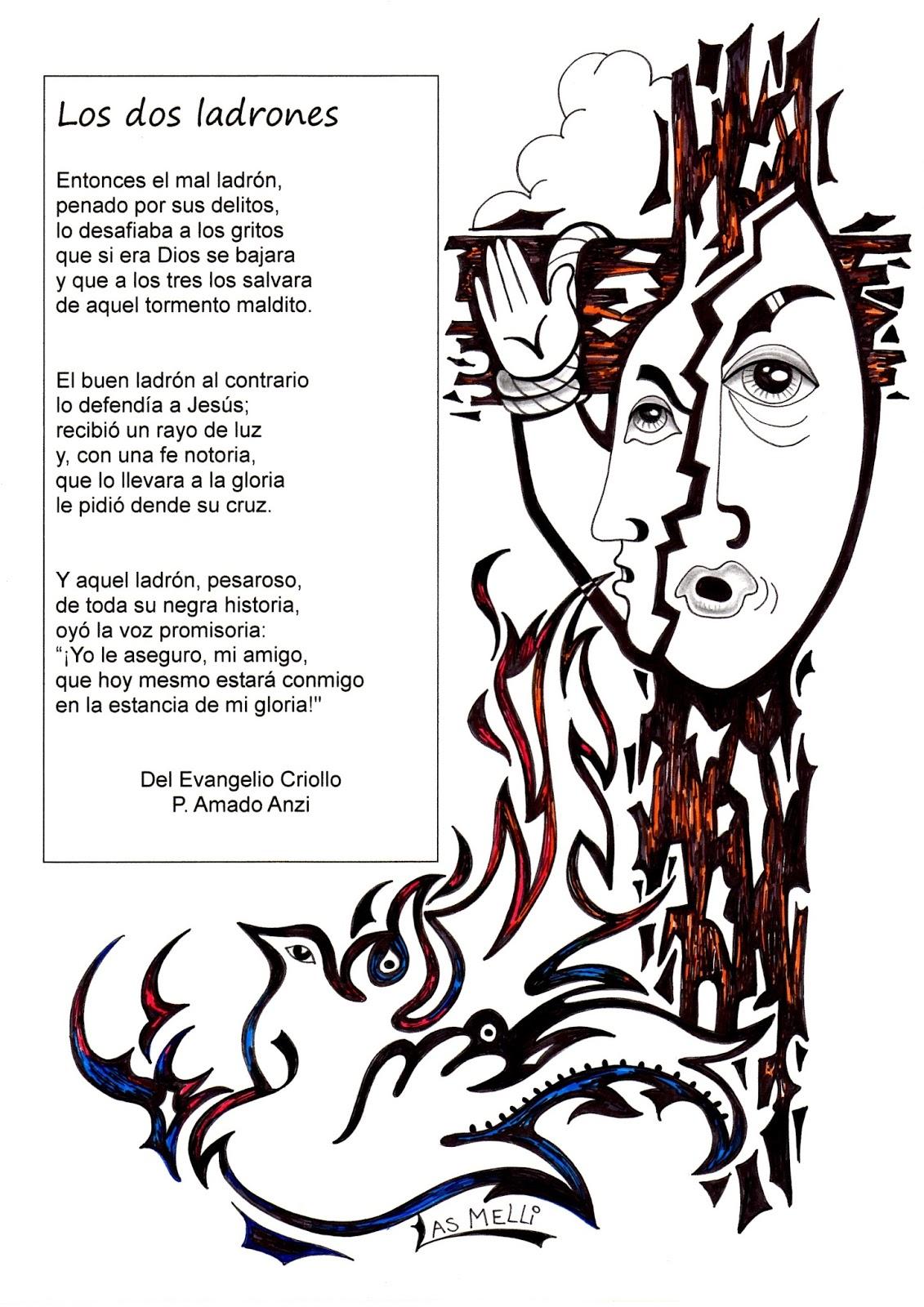 PARA COLOREAR: Evangelio criollo para colorear