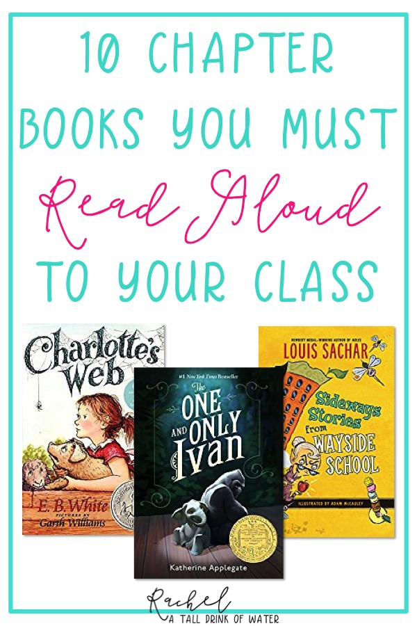 10 chapter books you must read aloud to your elementary students