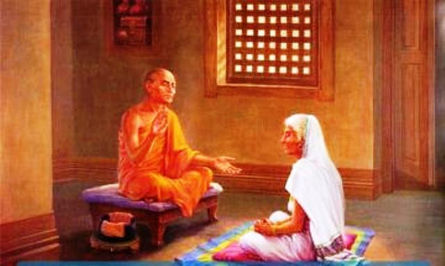Vị Tôn giả chỉ dạy bà lão cách bán đi sự ngheo khó buồn khổ