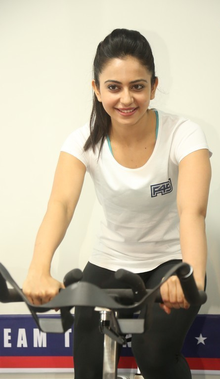 Rakul Preet Singh In White Gym Dress