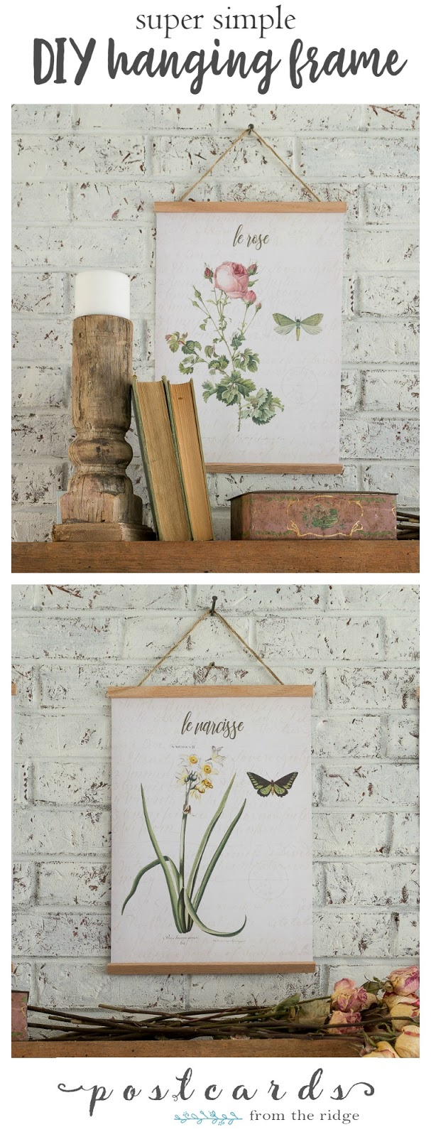 diy hanging frames with free printable art