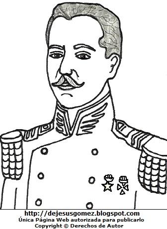 Dibujo de Leoncio Prado para colorear pintar imprimir, imagen de Leoncio Prado para niños. Dibujo de Leoncio Prado hecho por Jesus Gómez
