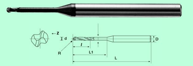.Dao Phay ngón ngõng trục dài Carbide