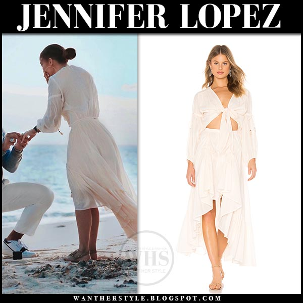29106d5cd6 Jennifer Lopez in cream blouse and cream ruched midi skirt spell   the  gypsy collective. Jennifer Lopez getting proposed by Alex Rodriguez ...
