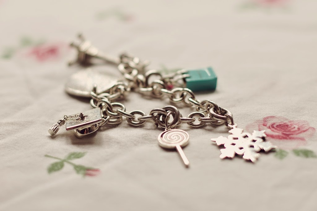 Tiffany Charm bracelet with graduation cap charm