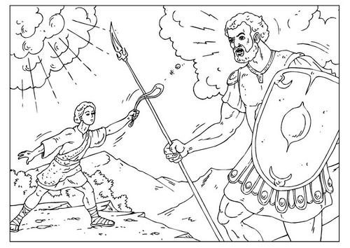 David Y Goliat Para Colorear Dibujos Cristianos Para: David Mata A Goliat Para Colorear