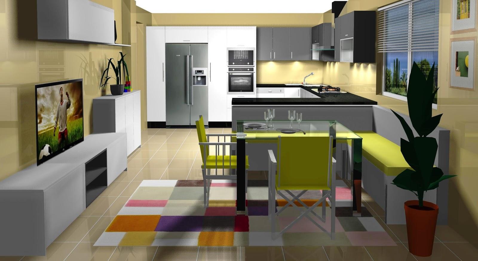 Dise o muebles de cocina dise o de cocina comedor for Vistas de cocinas