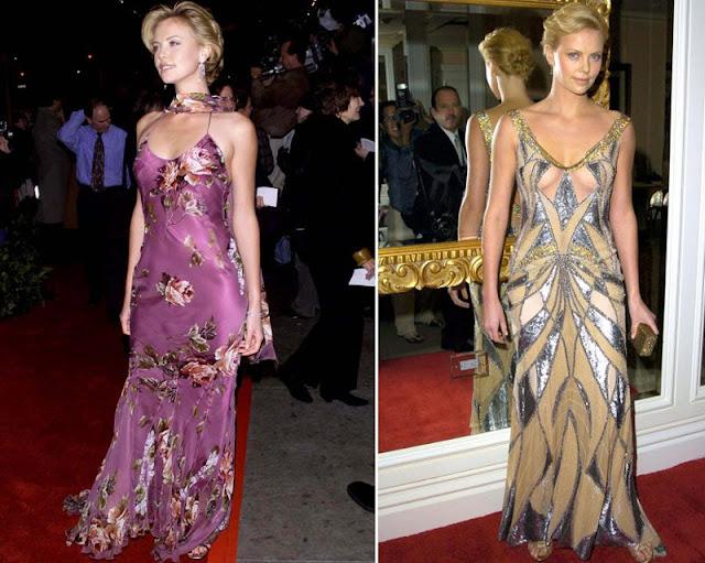 Шарлиз Терон в платье с аналогичным принтом