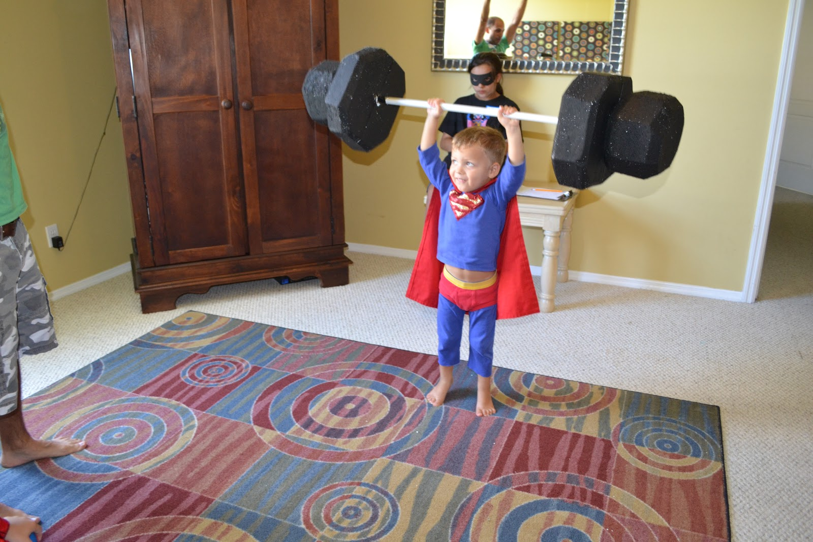 Blue Susan Makes Super Hero Training Academy Party
