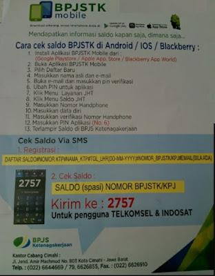 cara cek saldo BPJS Ketenaga Kerjaan di Android