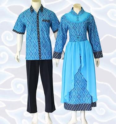Model Gamis Batik Sarimbit remaja